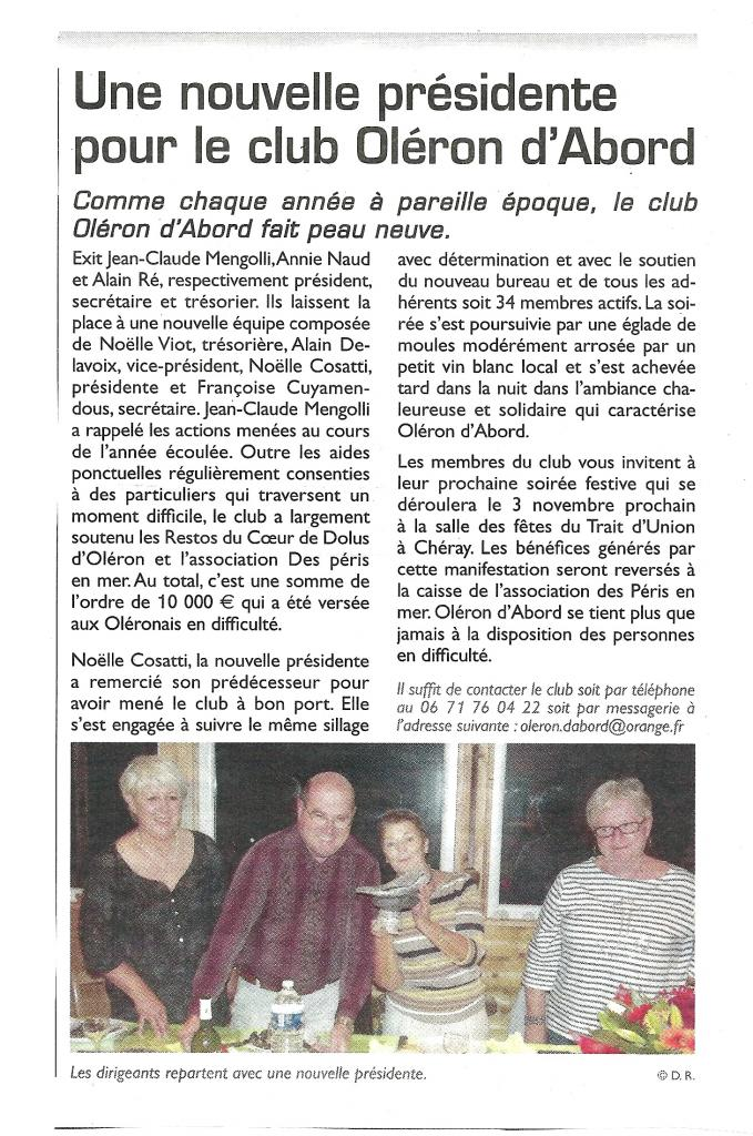 Article du Littoral Septembre 2012
