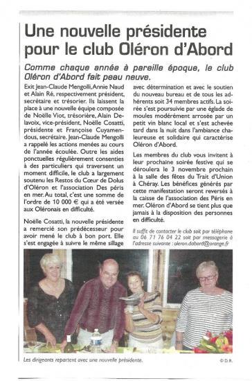 Article du Littoral Septembre 2012