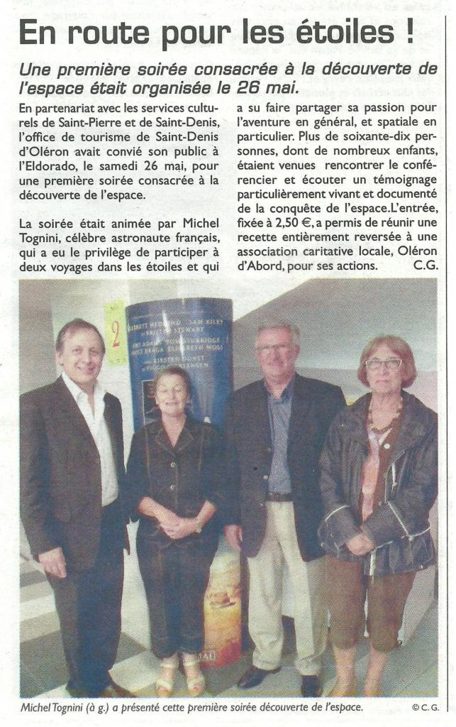 Article du littoral du 1° juin 2012