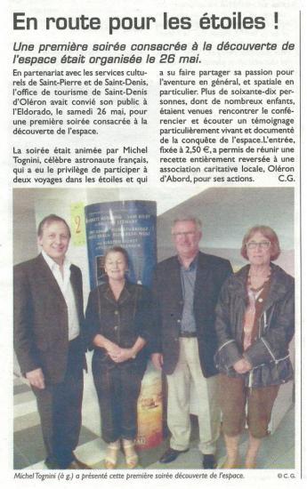 Article du littoral du 1° juin 2012