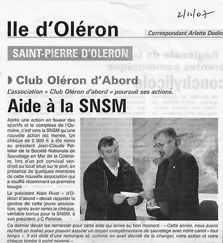 Le Littoral du 2 novembre 2007