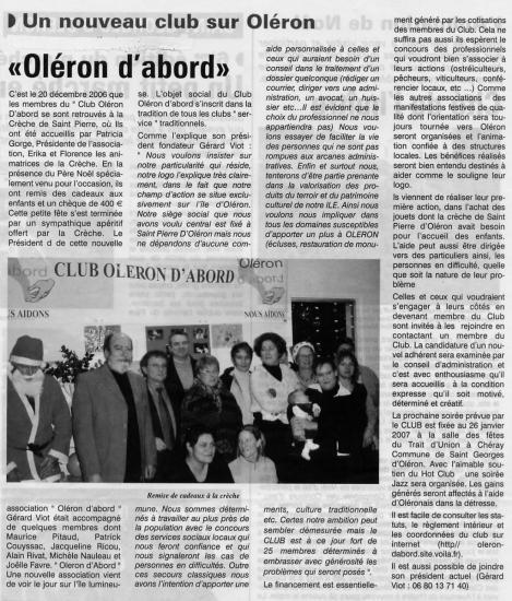 Le Littoral du 22 décembre 2006