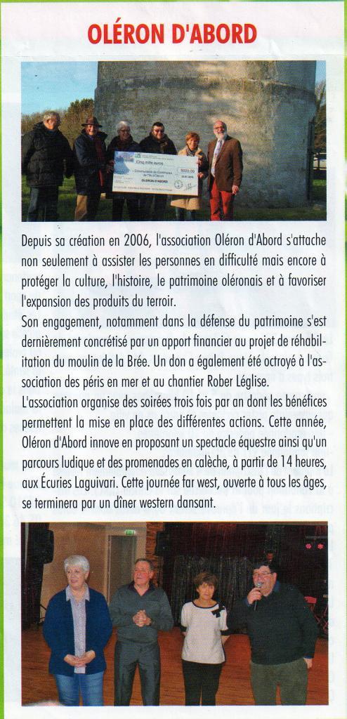 Janvier 2016 don au moulin de La Brée